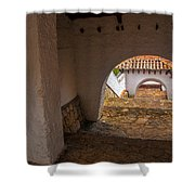Passageway In Colonial Town Shower Curtain