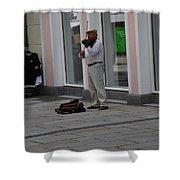 Passau Violinist Shower Curtain