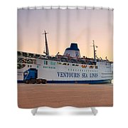 Passenger Port Piraeus. Shower Curtain