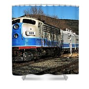 Passenger Train Shower Curtain