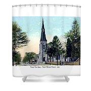 Passiac New Jersey - Norht Reformed Church - 1910 Shower Curtain