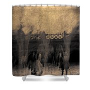 Visitors At Bethesda Terrace Shower Curtain