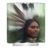 Passing Through Time Shower Curtain