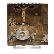 Passion Facade Barcelona Shower Curtain