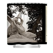 Passion In Death With Poety Shower Curtain