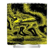 Passion In Grainy Gold Shower Curtain