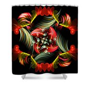 Passionate Love Bouquet Abstract Shower Curtain