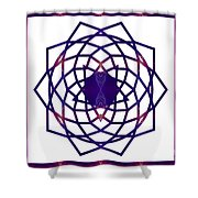 Passionate Purple Prayers Abstract Chakra Art By Omaste Witkowsk Shower Curtain