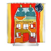 Passover House Shower Curtain by Linda Woods