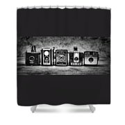 Past Cameras Shower Curtain