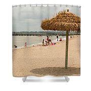 Past Midday Port Lavaca Beach Shower Curtain