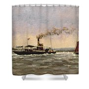 Past On The Medway Shower Curtain