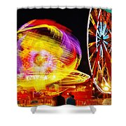 Past Sunset Midway Shower Curtain