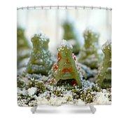 Pasta Christmas Trees Shower Curtain
