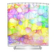 Pastel Abstract Patterns IIi Shower Curtain