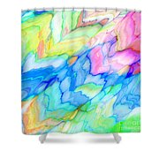 Pastel Abstract Patterns V Shower Curtain