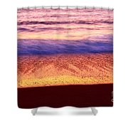 Pastel - Abstract Waves Rolling In During Sunset. Shower Curtain
