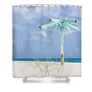 Pastel Beach Frame Shower Curtain