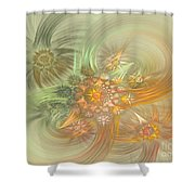 Pastel Delicate Pattern Shower Curtain