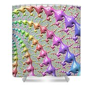 Pastel Drizzle Shower Curtain