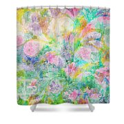 Pastel Flowers By Jan Marvin Shower Curtain