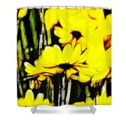 Pastel Flowers Shower Curtain