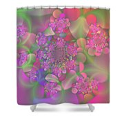 Pastel  Fractal Flower Garden Shower Curtain