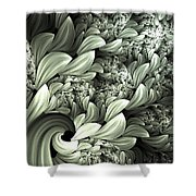 Pastel Garden Abstract Shower Curtain