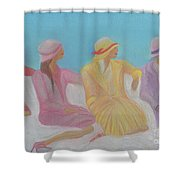 Pastel Hats By Jrr Shower Curtain