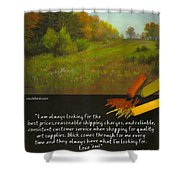 Pastel Journal Shower Curtain by David Patterson