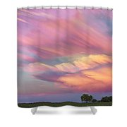Pastel Painted Sunset Sky Shower Curtain