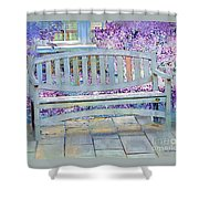 Pastel Patio Shower Curtain