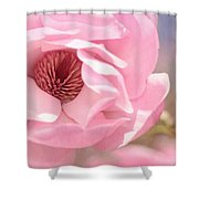 Pastel Pink Petals And Paint Shower Curtain