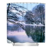 Pastel Pond Shower Curtain