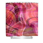 Pastel Power- Abstract Art Shower Curtain