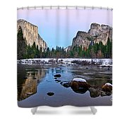 Pastel - Sunset View Of Yosemite National Park. Shower Curtain