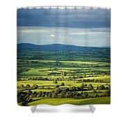 Pastoral Fields, Near Clonea, County Shower Curtain
