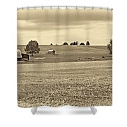 Pastoral Pennsylvania Sepia Shower Curtain