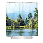 Pastoral Pond And Valley Shower Curtain