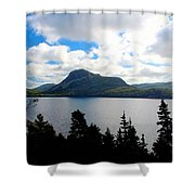Pastoral Scene By The Ocean Painterly Shower Curtain