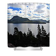 Pastoral Scene By The Ocean Panorama Shower Curtain