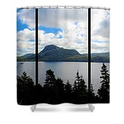Pastoral Scene By The Ocean Triptych Shower Curtain