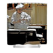 Female Austrian Pastry Chef Shower Curtain