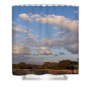 Pasture Clouds Shower Curtain