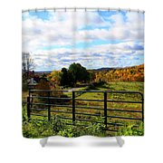 Pasture Gate Shower Curtain