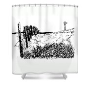 Pasture  Shower Curtain by Jean Ann Curry Hess