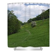 Pasture Land At Ashford-in-the-water Shower Curtain