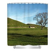 Pasture Land At Thorpe - Derbyshire Shower Curtain
