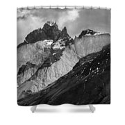 Patagonian Mountains Shower Curtain