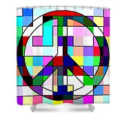 Patch Peace Shower Curtain